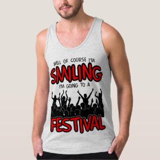 SMILING FESTIVAL (blk) Tank Top