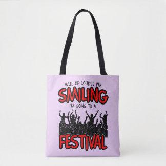 SMILING FESTIVAL (blk) Tote Bag