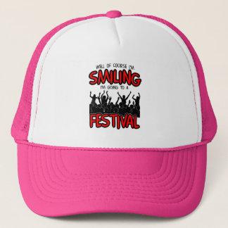 SMILING FESTIVAL (blk) Trucker Hat