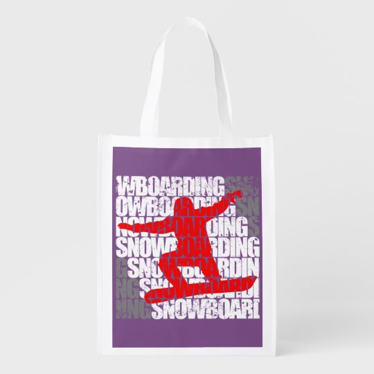 SMILING FESTIVAL (wht) Reusable Grocery Bag