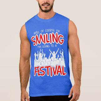 SMILING FESTIVAL (wht) Sleeveless Shirt