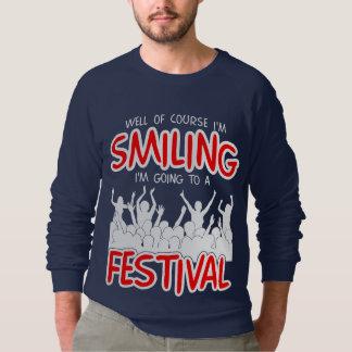 SMILING FESTIVAL (wht) Sweatshirt