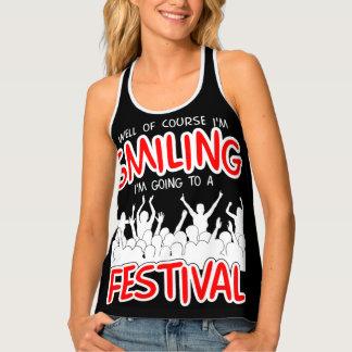 SMILING FESTIVAL (wht) Tank Top