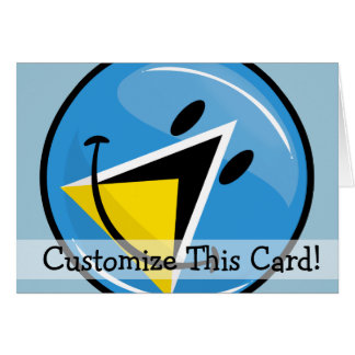 Smiling Flag of Saint Lucia Card