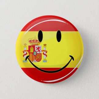 Smiling Flag of Spain 2 Inch Round Button