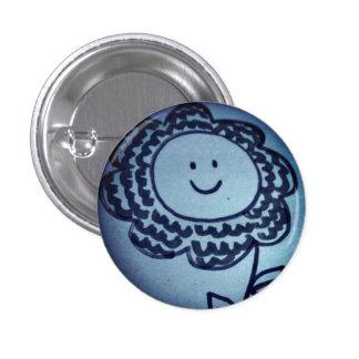 Smiling flower 1 inch round button