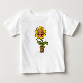 smiling flower cartoon baby T-Shirt