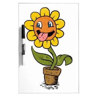 smiling flower cartoon Dry-Erase whiteboard