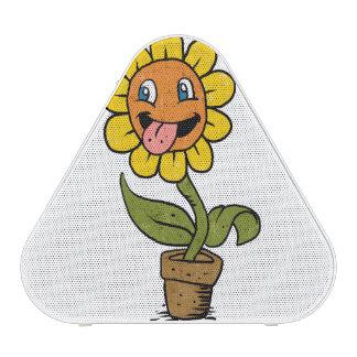smiling flower cartoon speaker