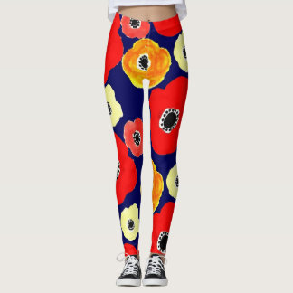 smiling flowers leggings
