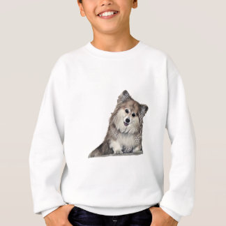 Smiling Fluffy Welsh Corgi Sweatshirt