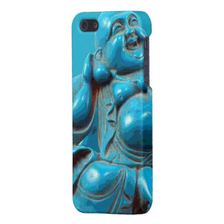 Smiling Fortune Happy Buddha Carving Turquoise Case For iPhone 5/5S