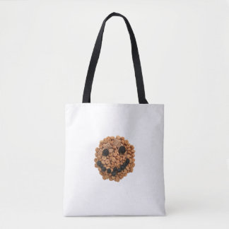 Smiling Fruit and Cereal Tote Bag