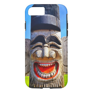 Smiling, funny laughing face photo cell phone case