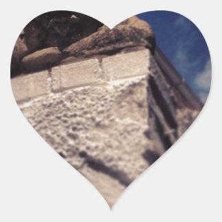 smiling gargoyle heart sticker