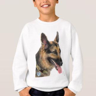 Smiling German Shepherd Sweatshirt
