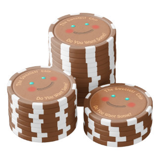 Smiling Gingerbread Cookie Poker Chips