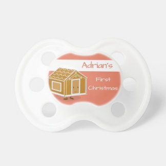 Smiling Gingerbread House Pacifer Pacifier
