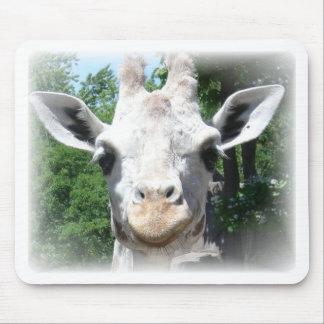 smiling giraffe mouse pad