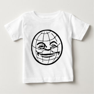 Smiling Globe, earth, face, happy world, grinning Baby T-Shirt