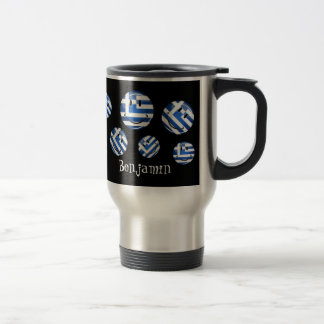 Smiling Greek Flag Travel Mug