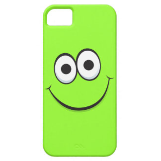 Smiling green happy cartoon smiley face funny case for the iPhone 5