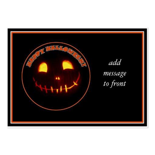 Smiling Halloween Jack-o-Lantern Business Card Template