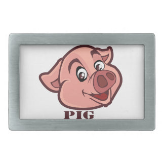 Smiling Happy Pig Face Belt Buckle