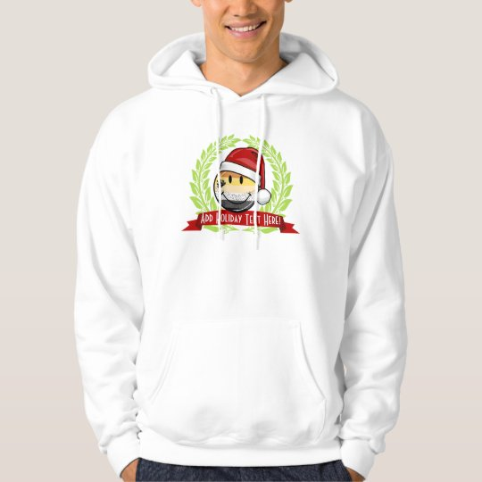 Smiling Holiday Gay Bear Pride Flag Hoodie