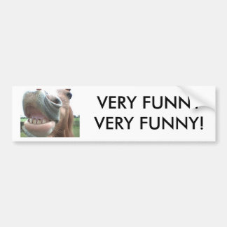 Smiling Horse Bumper Sticker VERY FUNNY!
