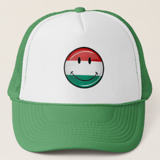 Smiling Hungarian Flag Trucker Hat