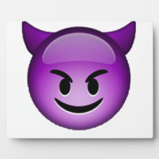 Smiling Imp - Emoji Plaque