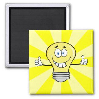 Smiling Incandescent Light Bulb Magnet