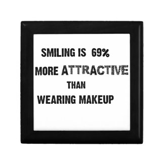 smiling is 69% more attractive than wearing makup gift box