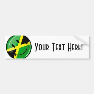 Smiling Jamaican Flag Bumper Sticker