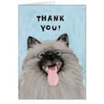 Smiling Keeshond Thank You Card