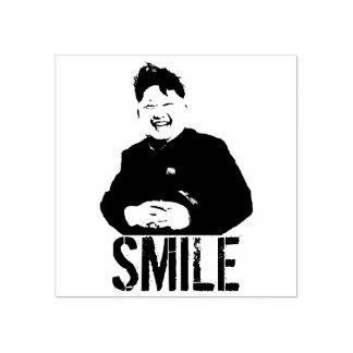 Smiling Kim Jong Un Rubber Stamp