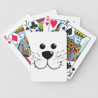 Smiling Kitty Cat Face Bicycle Playing Cards