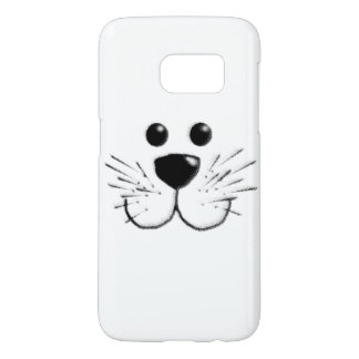 Smiling Kitty Cat Face Samsung Galaxy S7 Case