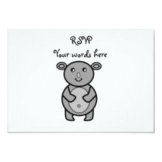 "Smiling koala bear 3.5"" x 5"" invitation card"