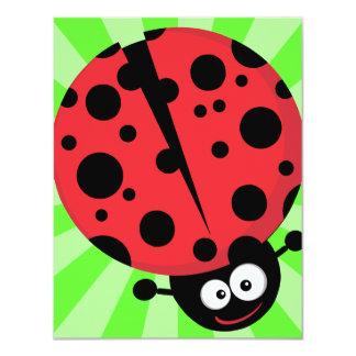 Smiling Ladybug Card