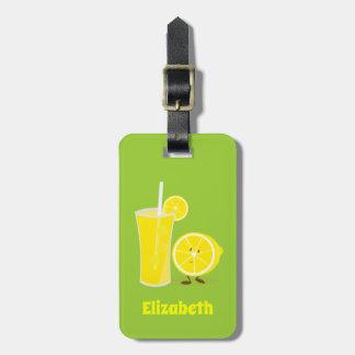 Smiling Lemon with Lemonade | Luggage Tag