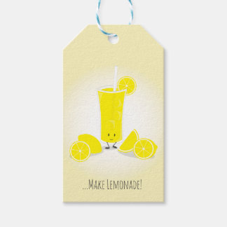 Smiling Lemonade Glass | Gift Tags