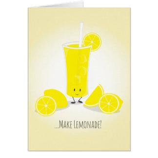 Smiling Lemonade Glass | Greeting Card