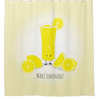 Smiling Lemonade Glass | Shower Curtain
