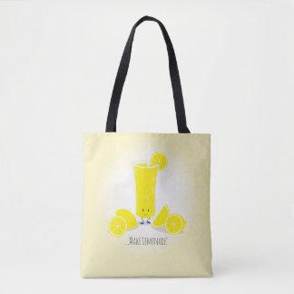 Smiling Lemonade Glass   Tote Bag