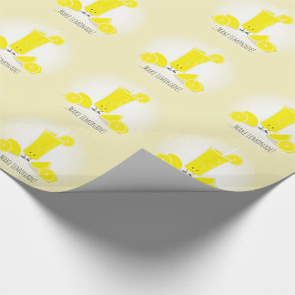 Smiling Lemonade Glass | Wrapping Paper