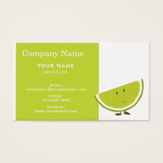 Smiling Lime Slice Business Card