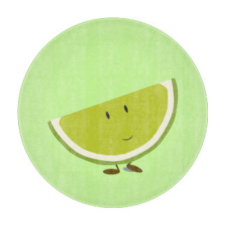 Smiling lime slice cutting board