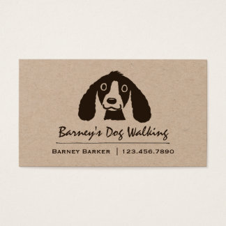 Smiling Long Ears Dog | Pet Sitter | Animal Care Business Card